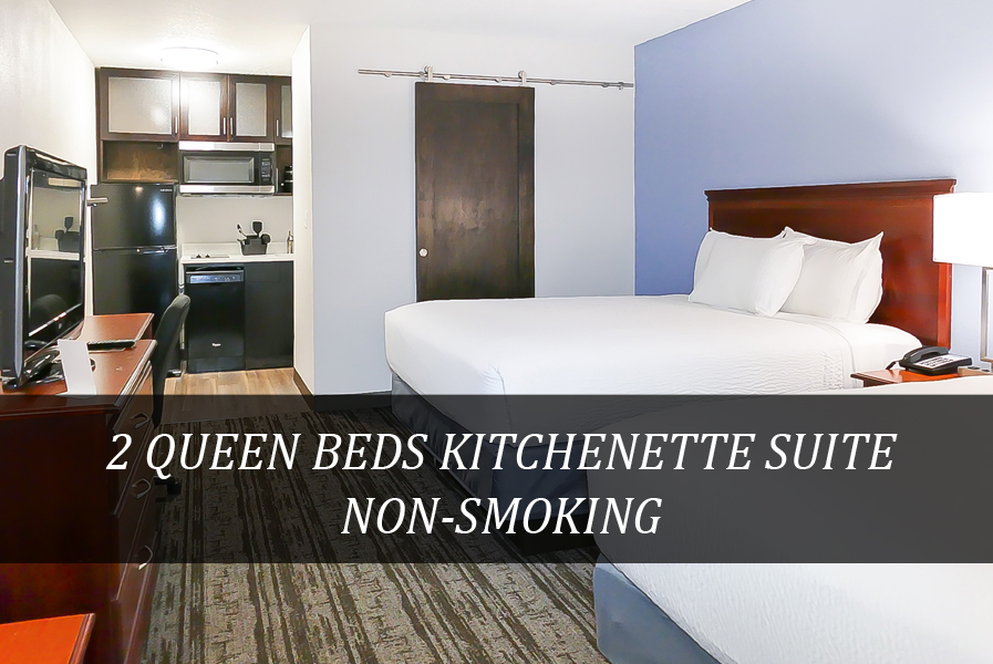 2 QUEEN BEDS KITCHENETTE SUITE NON-SMOKIN